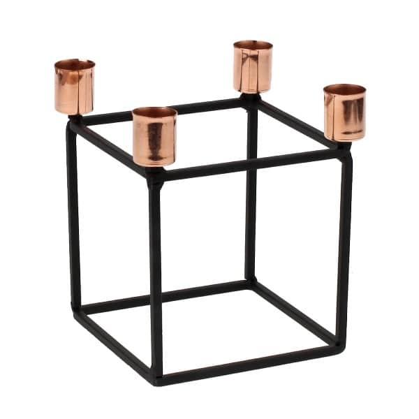 chandelier-bougeoir-noir-cuivre-lanostradeco