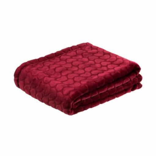 plaid-edredon-couverture-rouge-coeurs