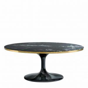 table basse-eichholtz-ovale-noir-luxe