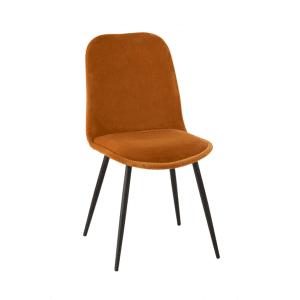 chaise-velours-ocre-lanostradeco