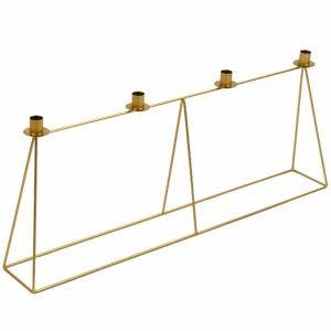 chandelier-bougie-bougeoir-doré-lanostradeco