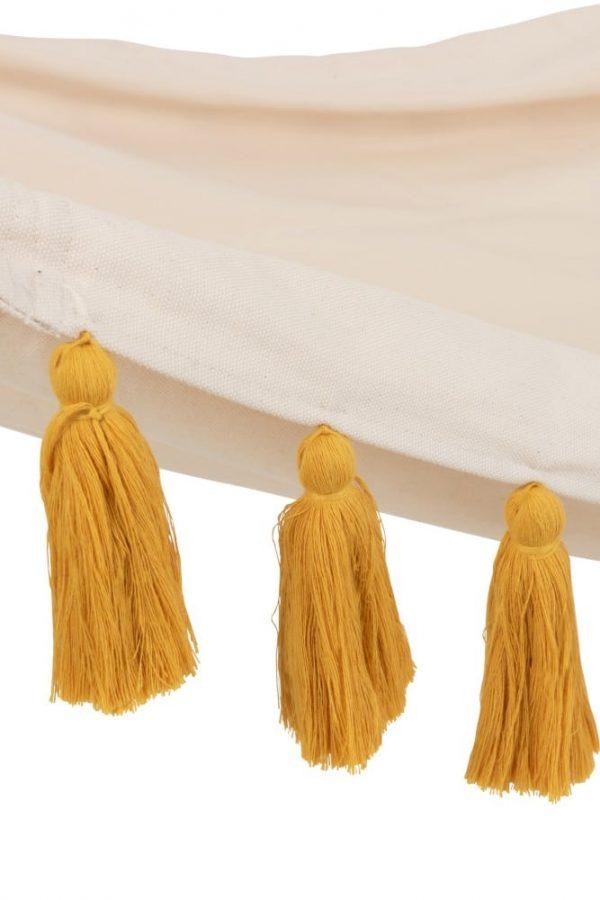 hamac-pompons-jaune-ocre-lanostradeco
