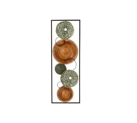 decoration-murale-cercle-marron-vert