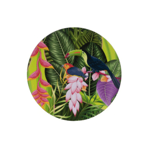 assiette-tropical-toucan-33cm-lanostradeco